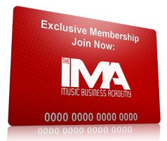 IMA Music Business Academy Membership Card