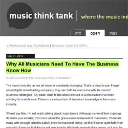 Why all musicians need to have the business know how on music think tank