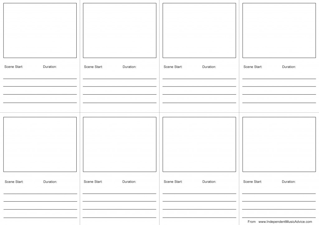 Free Printable Storyboard Template For Music Videos