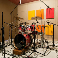 Drum Set In Drum Room