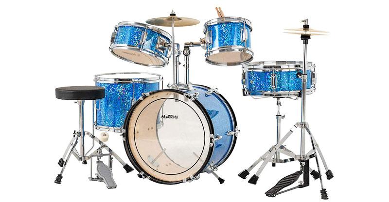 LAGRIMA 16 Inch 5-Piece Complete Kids/Junior Drum Set