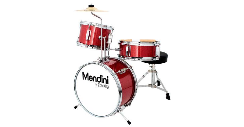 Mendini By Cecilio MJDS-1-BR 13 Inch 3-Piece Kids/Junior Drum Set