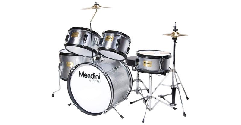 Mendini By Cecilio MJDS-5-SR 16 Inch 5-Piece Complete Kids/Junior Drum Set